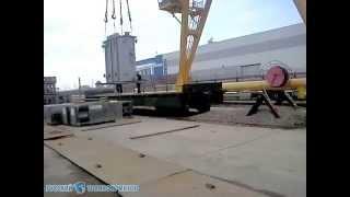 2012.04 - Разгрузка трансформатора ТМ-4000 с ж.д платформы(Разгрузка силовых масляных трансформаторов ТМ-4000 Трансформаторы в частично демонтированном состоянии...., 2012-05-25T16:50:58.000Z)