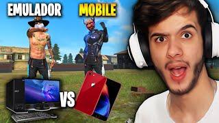 X1 EMULADOR vs MOBILE DO IPHONE 8 NO FREE FIRE!
