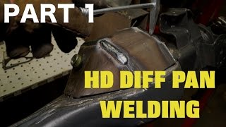 Land Rover (AXLE) Welding -  Armoured Diff Pan Modification PART 1