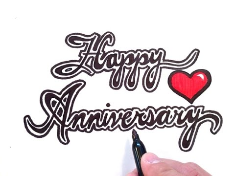 How To Draw Happy Anniversary Youtube