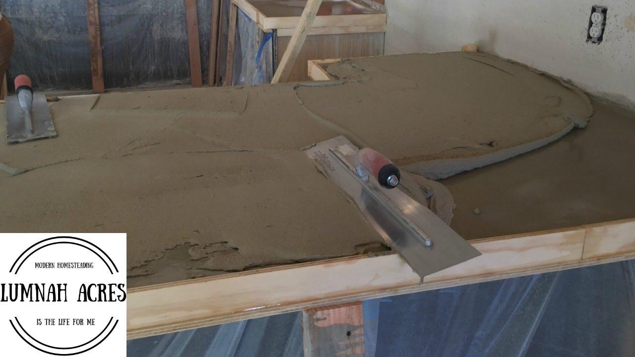 how to pour a concrete countertop over an existing countertop