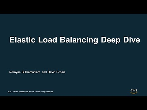 Elastic Load Balancing Deep Dive - AWS Online Tech Talks