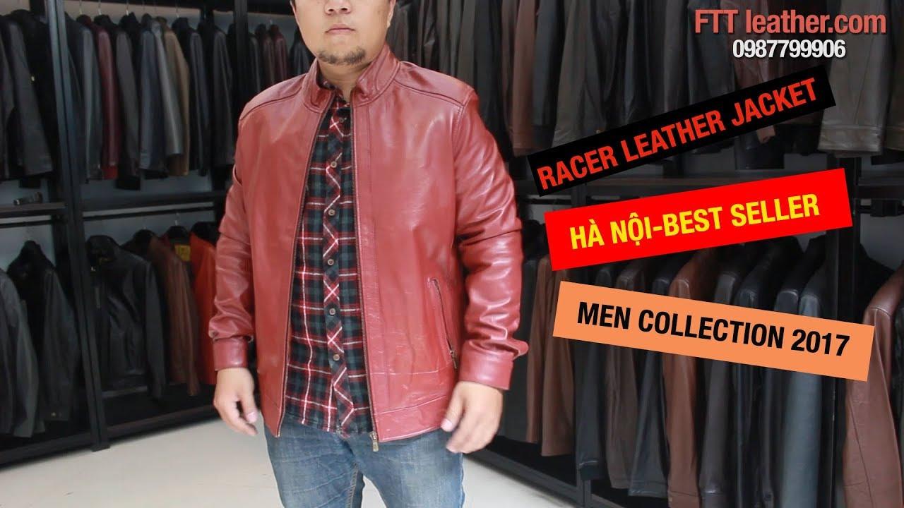 Áo da Racer nam, áo khoác da cừu cho nam