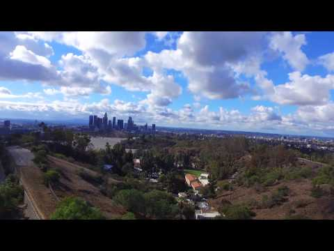 Drone over Elysian Park, Los Angeles