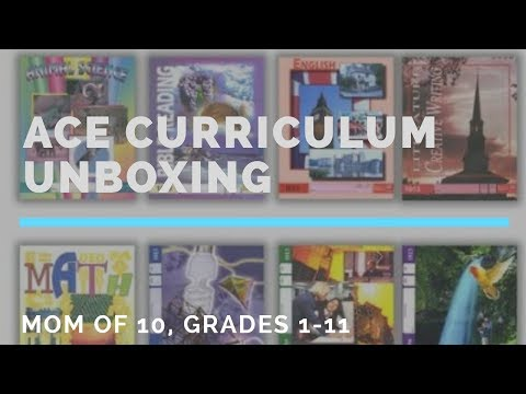 ACE Curriculum unboxing by homeschool mom of 10 (Grades 1 through 11)