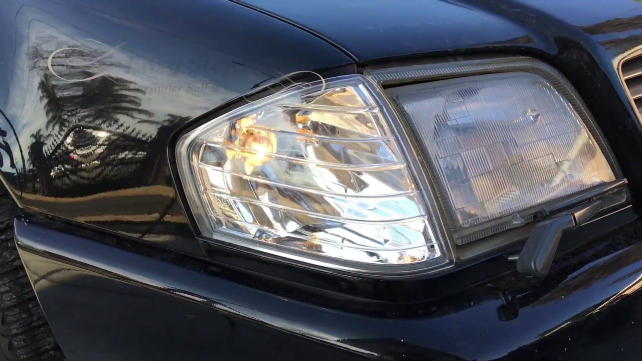 How To Install Clear Corner Turn Signal Lights On R129
