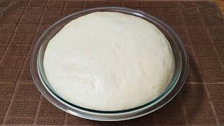 طريقة تحضير عجينة المناقيش بزعتر  Best dough for manakish za'atar