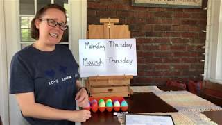Immanuel Sunday School: What is Maundy Thursday