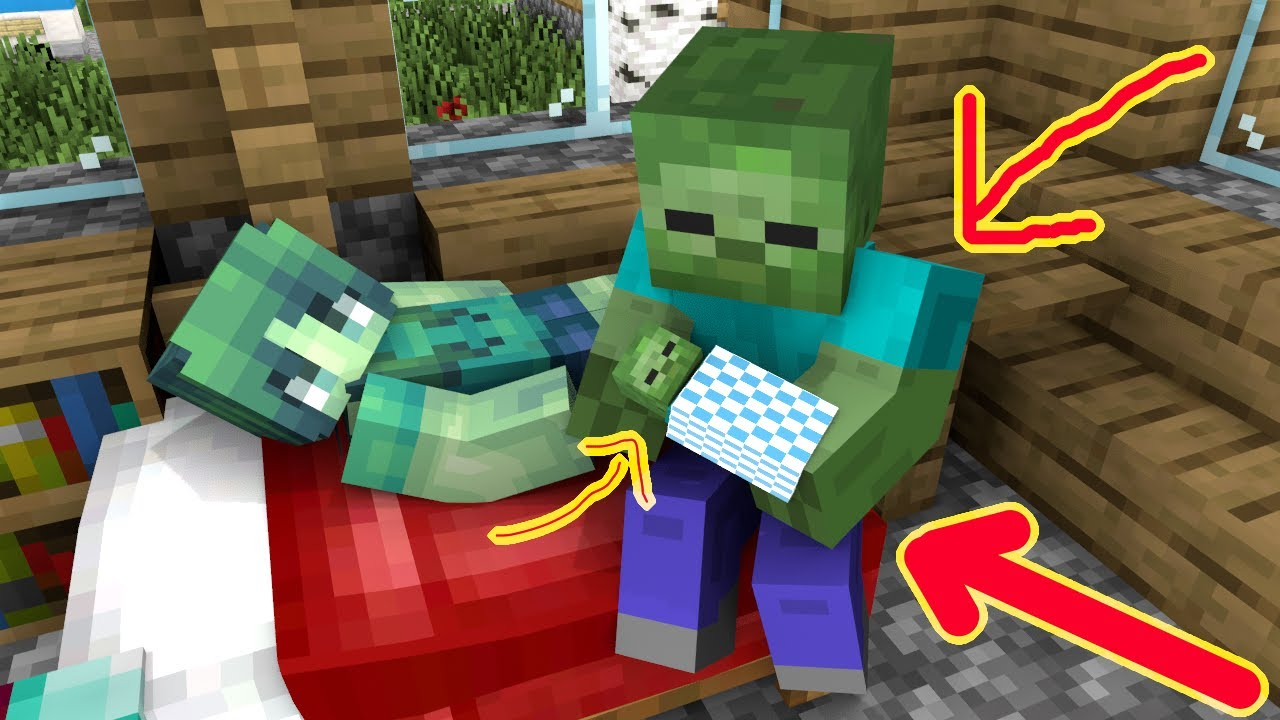 Monster School : BABY ZOMBIE LIFE (part 9) - Minecraft Animation