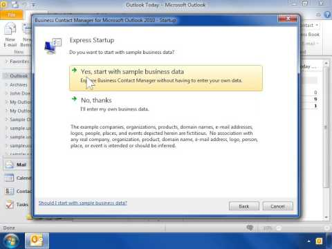 Outlook 2010 Install Business Contact Manager
