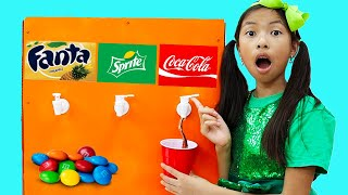 Wendy Pretend Play Sweets Candy and Soda Machine Toy for Kids