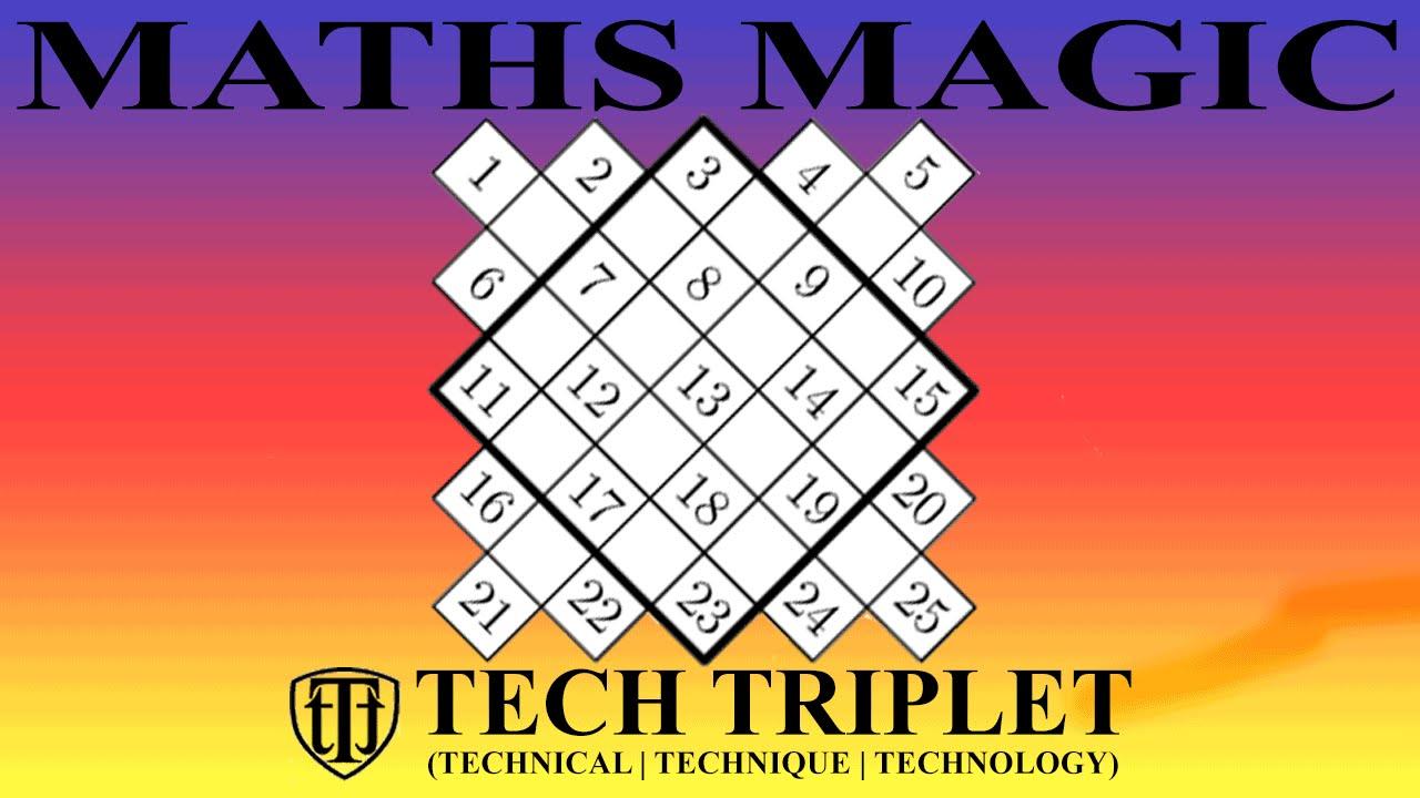 How to Make a Magic Square(5x5 magic square)