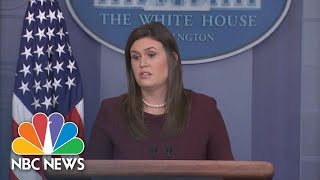 Sarah Huckabee Sanders Says Trump Was 'Stating The Facts' On Kavanaugh Accuser At Rally | NBC News