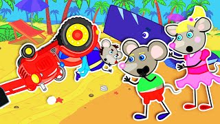 Mouse Family Official Channel 🍒 To Help Little Whale | Cartoon for Kids
