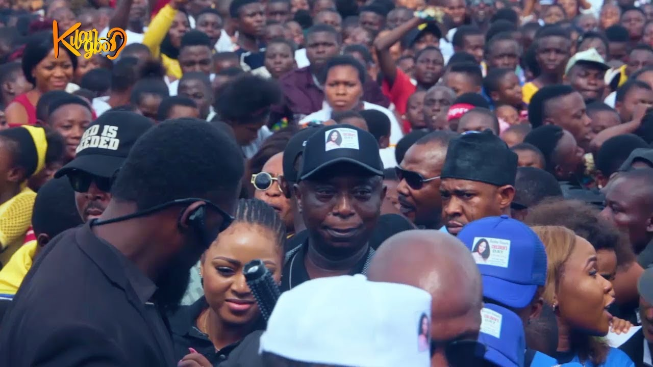Download Mammoth Crowd  welcome Regina Daniels, Her Lovely  Husband &  Mother  At children's Day carnival