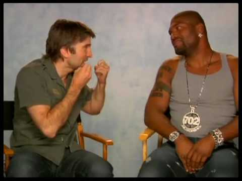 Rampage has a pretend hissy fit with Sharlto Copley