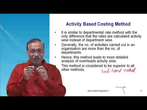 Activity Based Costing (ABC Method) Tutorial Applicable to CA Intermediate CMA by CA Rakesh Agrawal