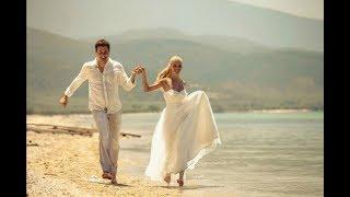 Свадьба на Крите на берегу моря Марии и Алексея