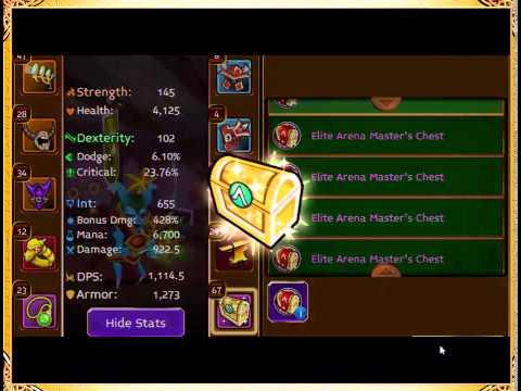 Arcane Legends - 100 Elite Arena Master's Chests