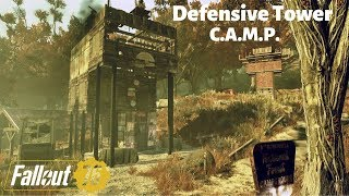 Defensive Tower CAMP Fallout 76 Build