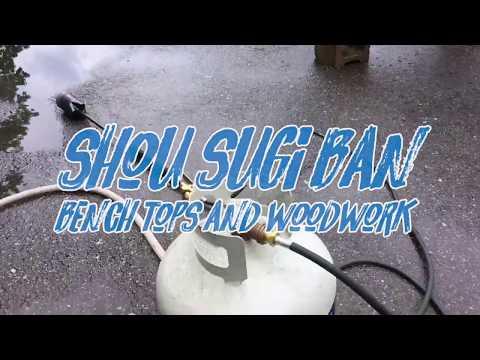 Building Benches Shou Sugi Ban Style