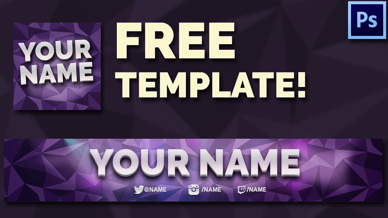 free youtube banner avatar template youtube