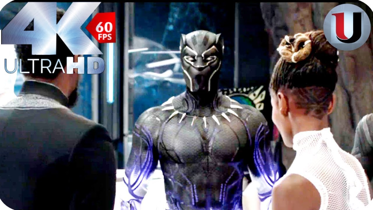Black Panther New Suit T Challa And Shuri Movie Clip 4k Hd Youtube