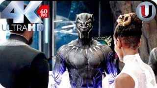 black panther new suit tchalla and shuri movie clip 4k hd
