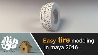 Easy tire modeling in maya 2016 for beginner
