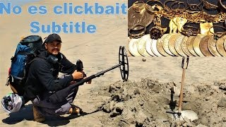 Mochilero encuentra oro perdido en playa de México. CTX 3030 subtitle
