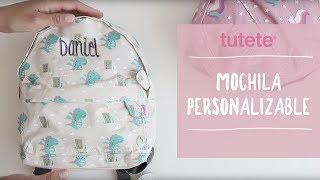 Mochila Personalizable - Vuelta al Cole Tutete