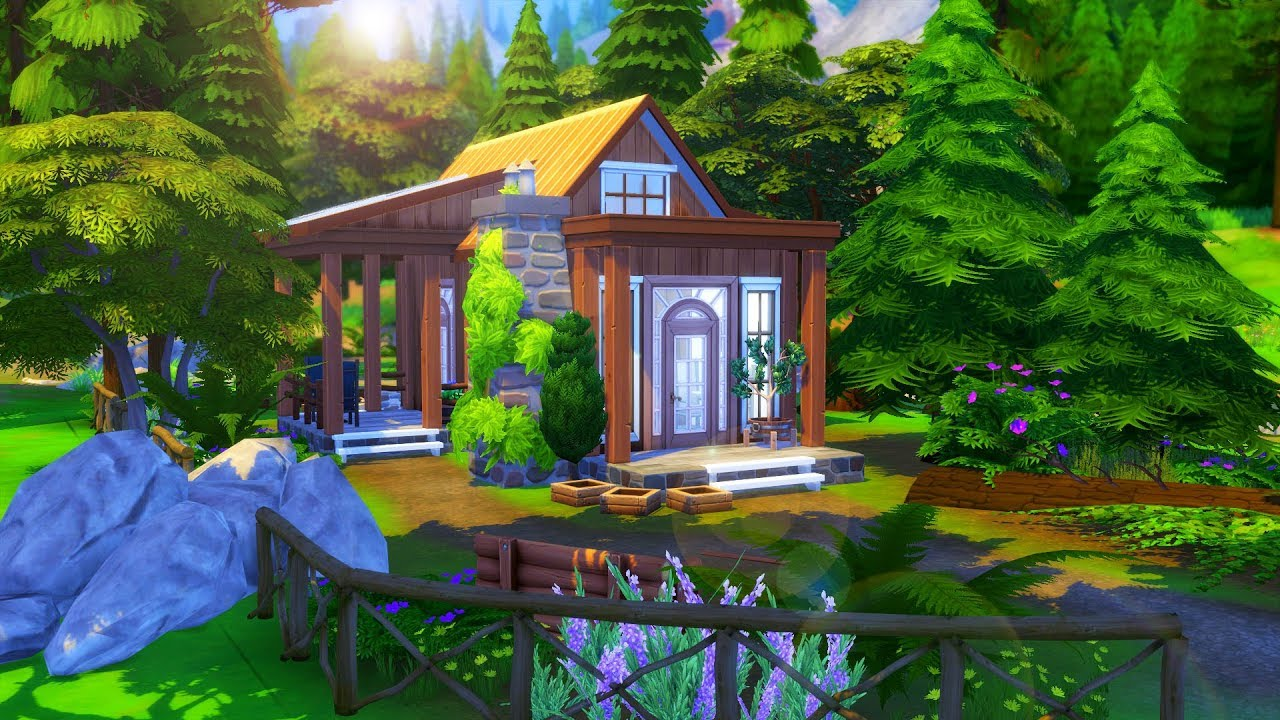 ECO-FRIENDLY CABIN // Sims 4 Speed Build
