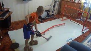 хоккейные упражнения на тренажере для дриблинга