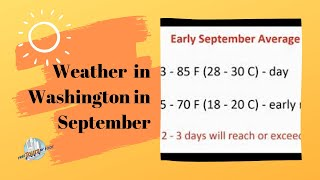 How is the Weather in September | Washington DC