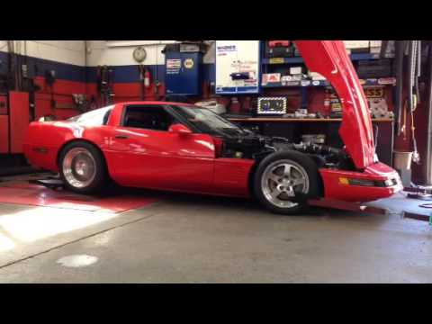 Beautiful 1995 Corvette Dyno - YouTube