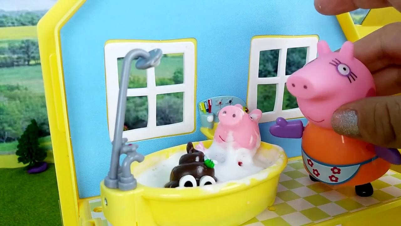 Peppa pig mangia tanta torta fatta dalla mamma storie per for Cani che non vogliono fare il bagno
