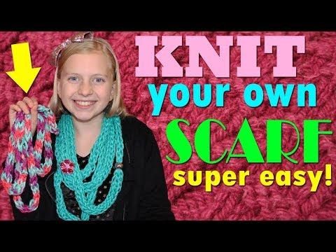 DIY Finger Knitting Scarf!!