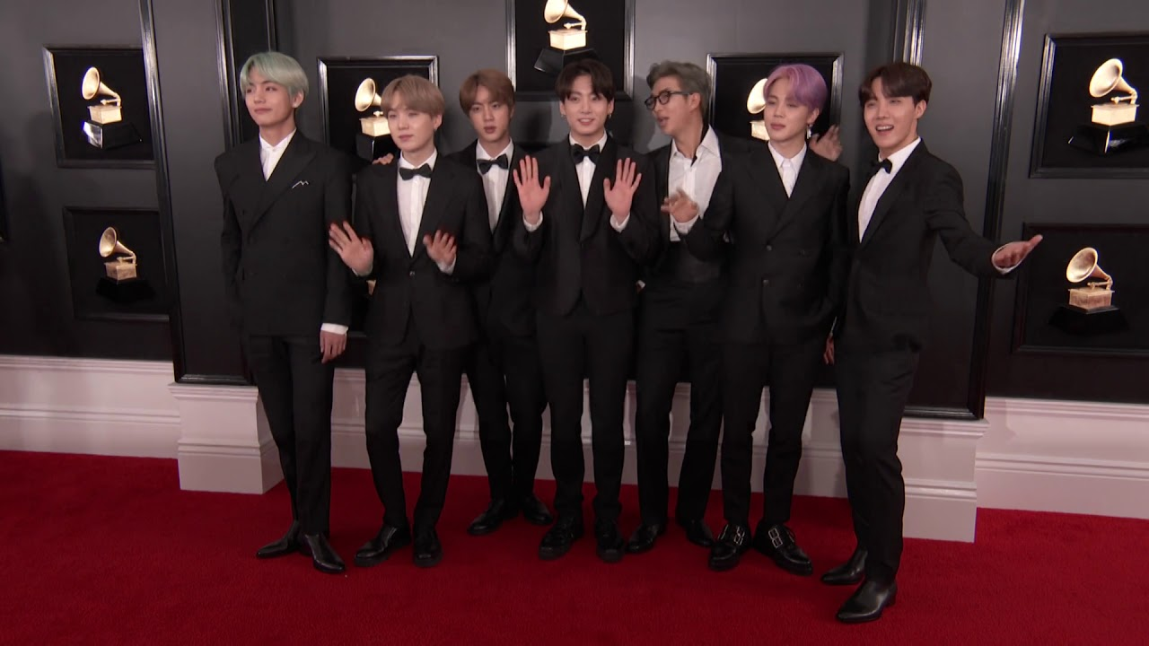 bts on the red carpet 2019 grammys youtube bts on the red carpet 2019 grammys