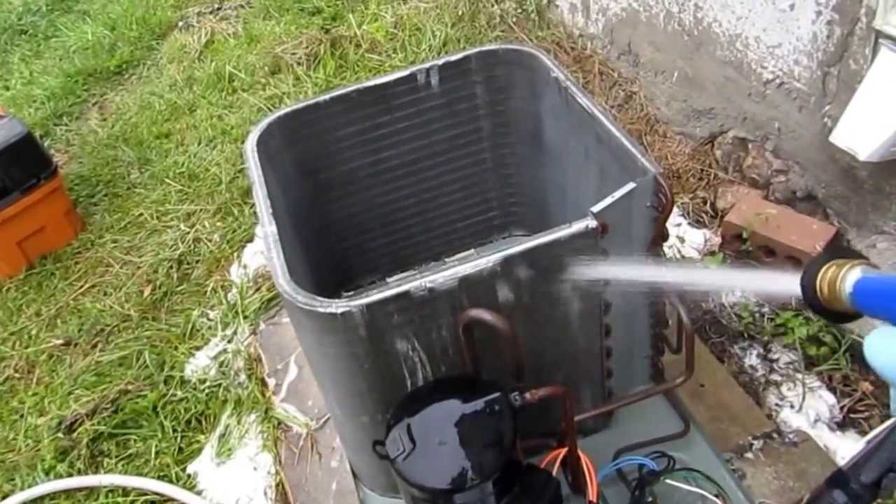 Hvac Ruud Condensing Unit Full Cleaning Part 1 Youtube