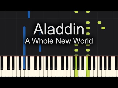 😇TOO EASY!! 😇A Whole New World Aladdin Piano
