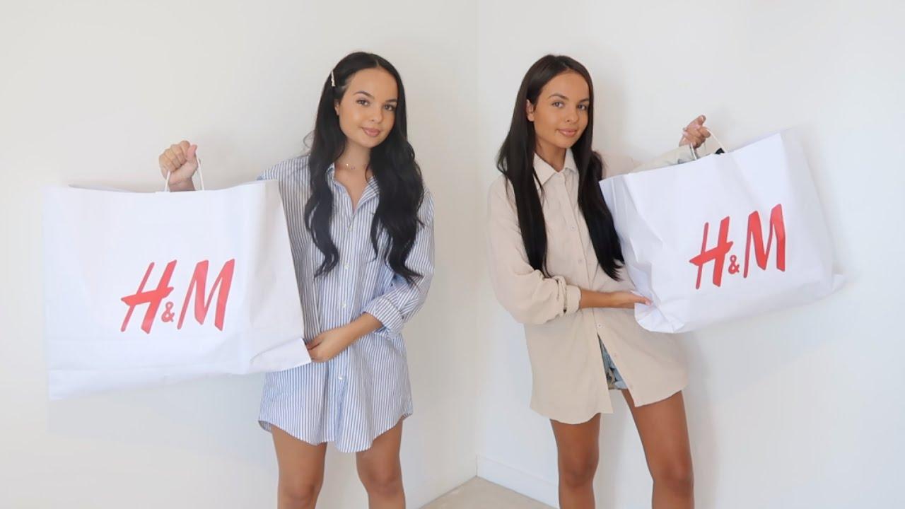 HUGE H&M new season AUTUMN🍂  try on haul - Ayse and Zeliha