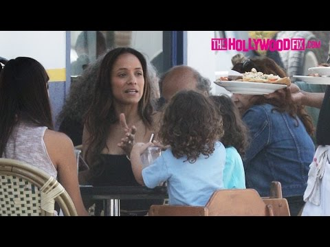 Dania Ramirez From Entourage, Heroes & The Sopranos Has Lunch With Family At La Conversation 4.10.17