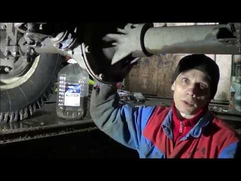 Как убрать люфт хвостовика заднего моста уаз видео
