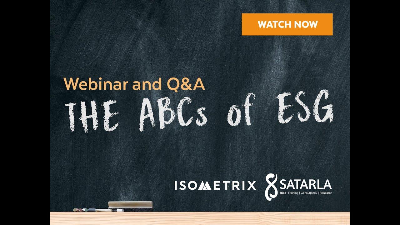 The ABCs of ESG