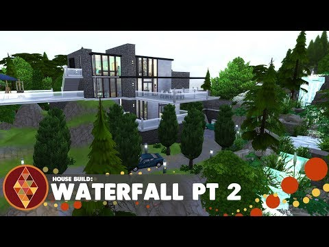 Waterfall house pt 2 - The Sims 4 - House Build | HD thumbnail
