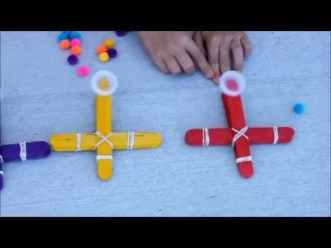 2 Catapults Out Of Popsicle Sticks Funnydog Tv