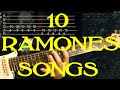 THE RAMONES Guitar Lesson  - 10 Songs✅✅🎵