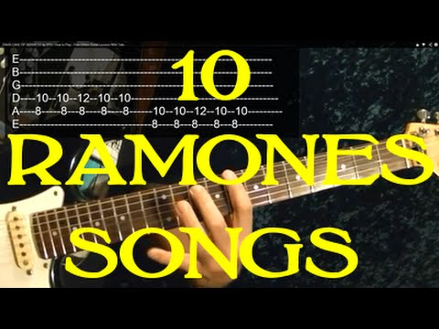 how to play ramones songs on guitar