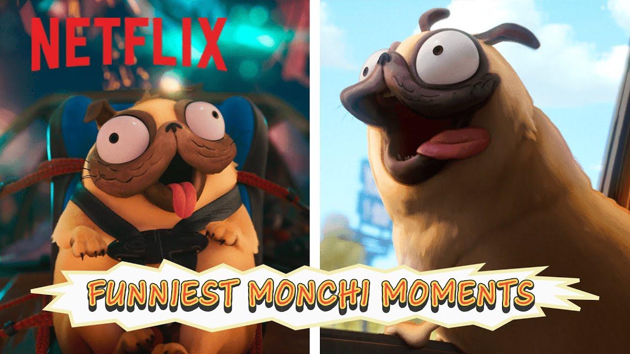 Funniest Monchi Moments 🐶 The Mitchells vs. The Machines | Netflix Futures