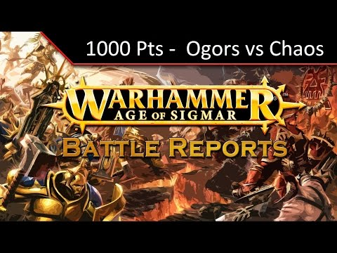 TBMC - Age of Sigmar 1000 points Matched Play - Chaos vs Ogors